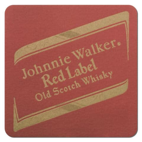 Johnnie Walker Scotch Whisky Coaster Front