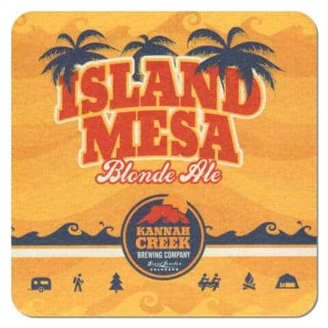 Hannah Creek Brewing - Island Mesa Blonde Ale Beer Mat