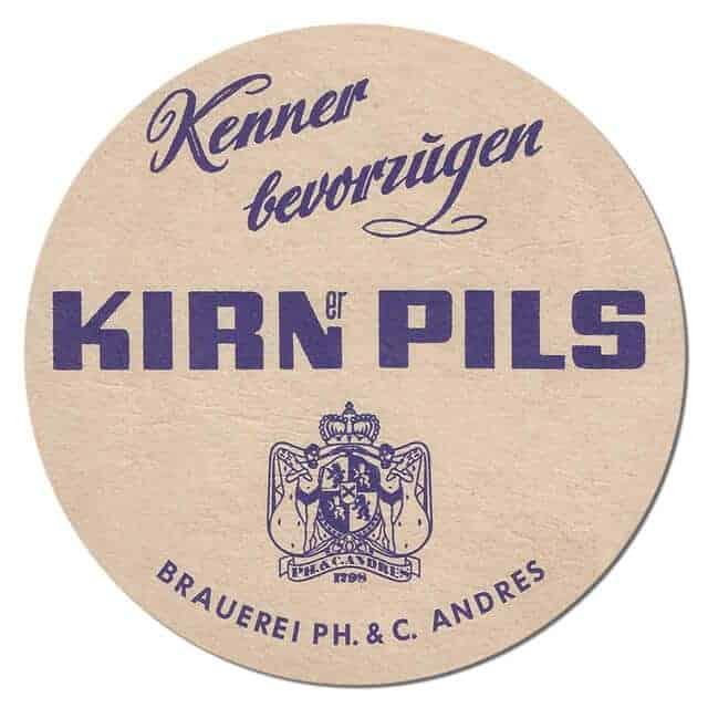 Kirner Pils Beer Mat