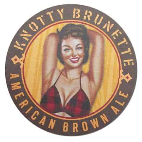 Knotty Brunette Beer Mat