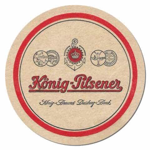 Konig Pilsner Beer Mat