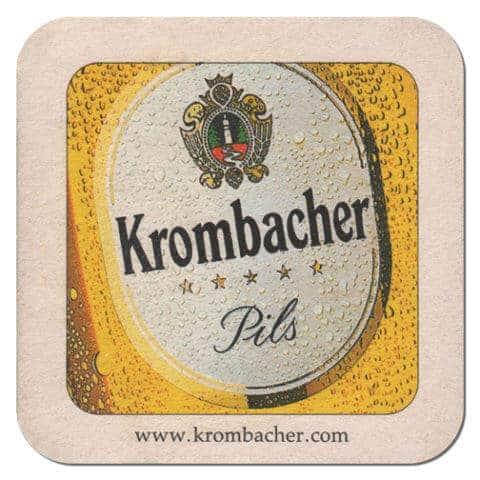 Krombacher Beer Mat Front