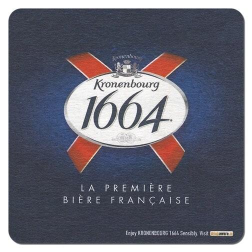 Kronenbourg 1664 Beer Mat