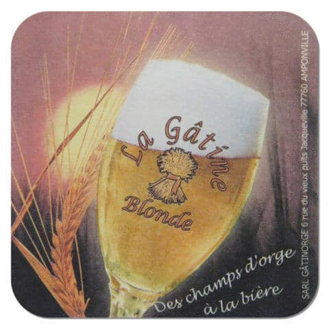 La Gatine Blonde Beer Mat