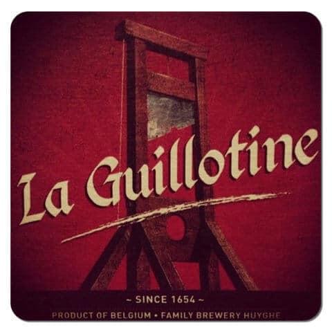 La Guillotine Beer Mat