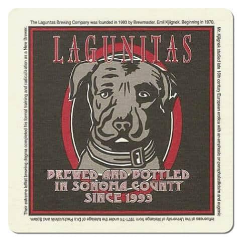 Lagunitas Beer Mat Front