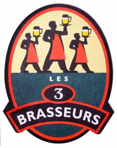 Les 3 Brasseurs Beer Mat
