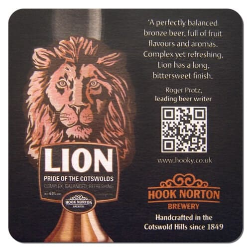 Hook Norton Brewery - Lion Beer Mat