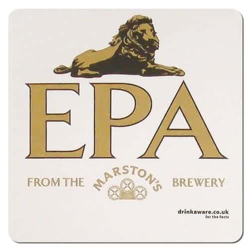 Marstons EPA Beer Mat