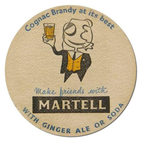 Martell Brandy Coaster