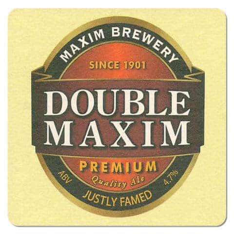 Maxim Brewery Double Maxim Beer Mat