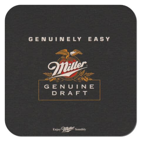Miller Genuine Draft Beer Mat Front
