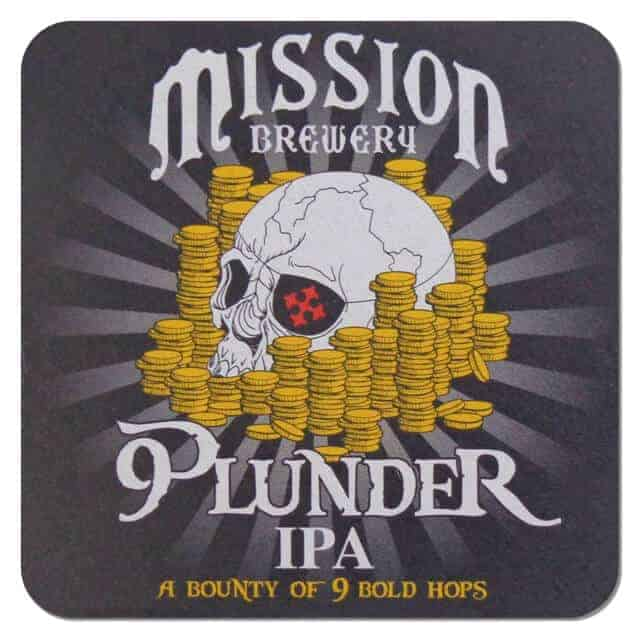 Mission Brewery - Plunder IPA Beer Mat
