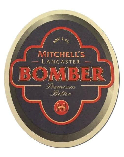 Mitchells Lancaster Bomber Beer Mat