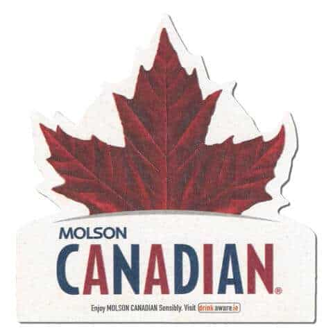 Molson Canadian Beer Mat Front