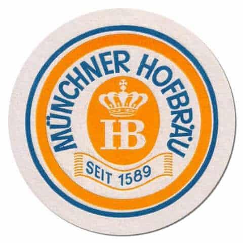 Munchner Hofbrau Beer Mat