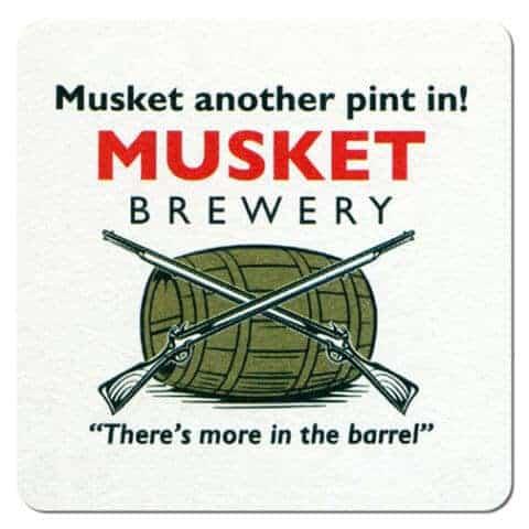Musket Brewery Beer Mat