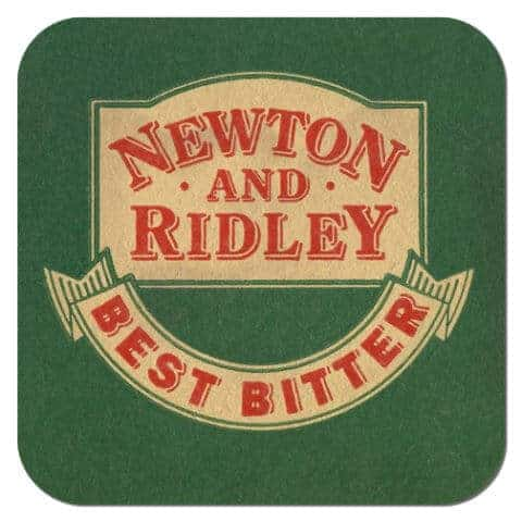 Newton and Ridley Beer Mat