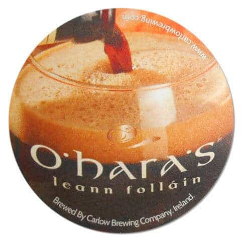 O'Haras Extra Irish Stout Beer Mat