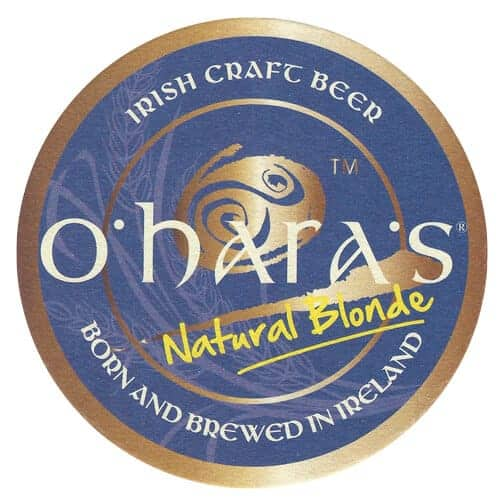 O'Haras Natural Blonde Beer Mat Front