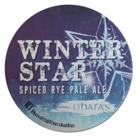 O'Haras Winter Star Beer Mat