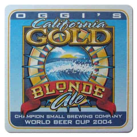 Oggis California Gold Blonde Ale Beer Mat