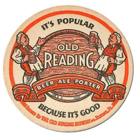 Old Reading Beer Mat