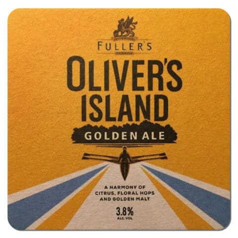 Olivers Island Golden Ale Beer Mat