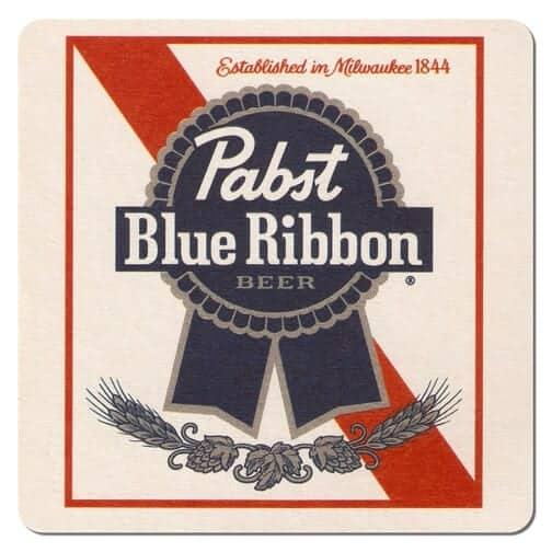 Pabst Blue Ribbon Beer Mat