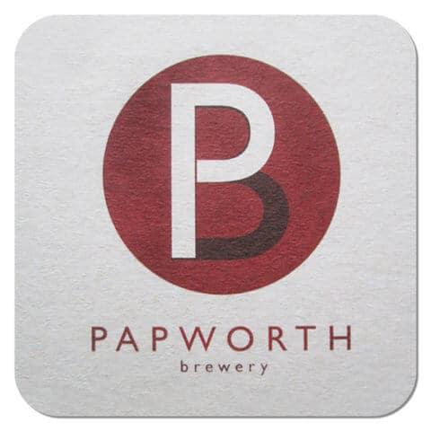 Papworth Brewery Beer Mat