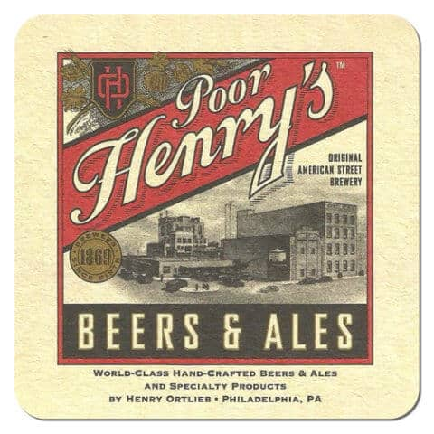 Poor Henrys Beer Mat