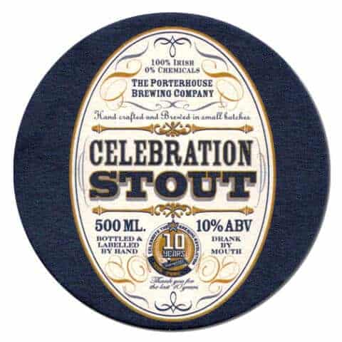 Porterhouse Celebration Stout Beer Mat Front