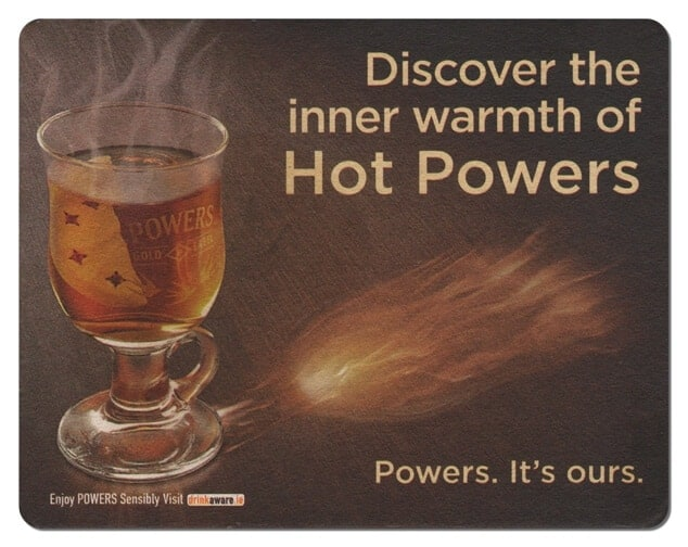 Powers Whiskey Coaster Front