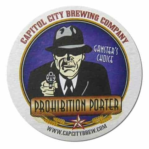 Capitol City Brewing Prohibition Porter Drip Mat Front