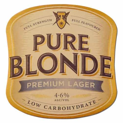 Pure Blonde Beer Mat Front