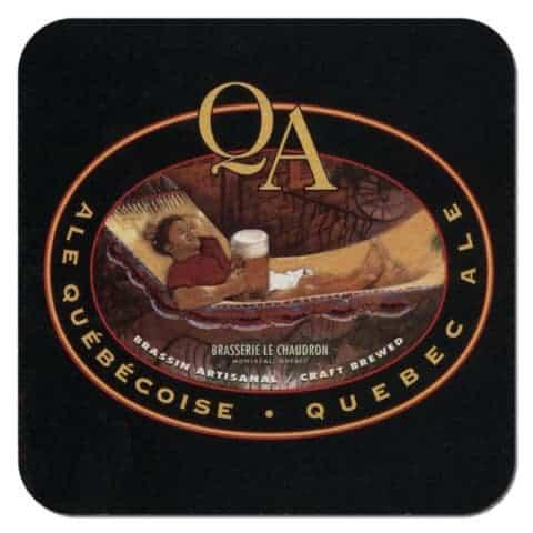 Quebec Ale Beer Mat