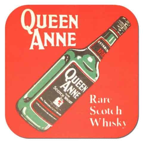 Queen Anne Scotch Whisky Coaster