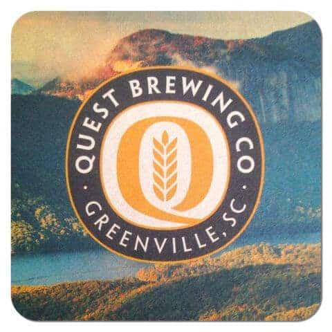 Quest Brewing Co Beer Mat