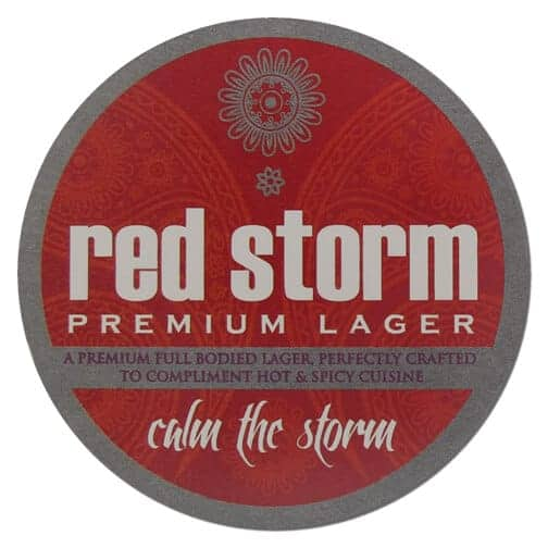 Red Storm Lager Beer Mat