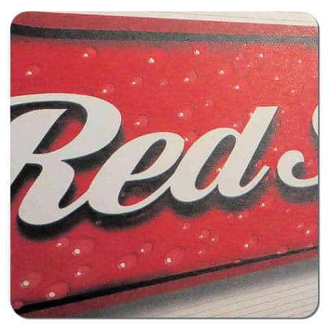Red Stripe Beer Mat Front