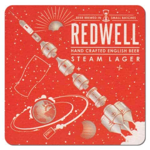 Redwell Steam Lager Beer Mat