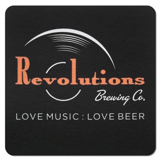 Revolutions Brewing Co Beer Mat
