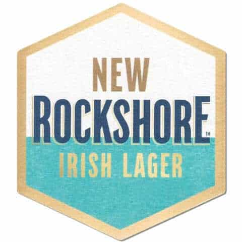 Rockshore Irish Lager Beer Mat