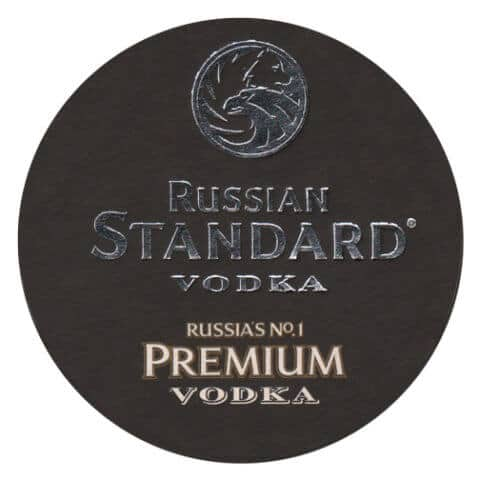 Russian Standard Vodka Coaster Front