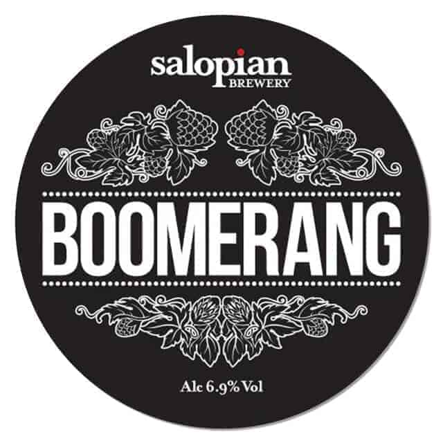 Salopian Brewery - Boomerang Beer Mat