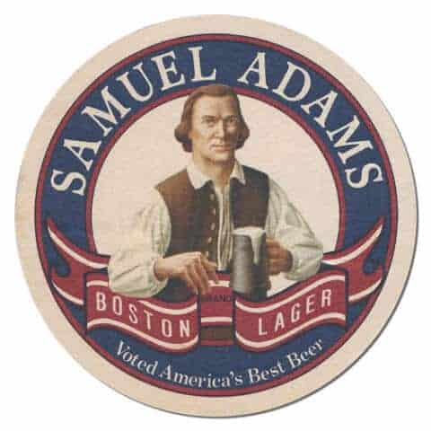 Samuel Adams Beer Mat