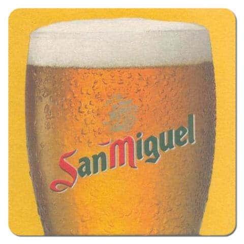 San Miguel Beer Mat Front