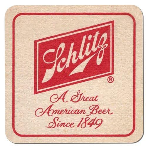Schlitz Beer Mat