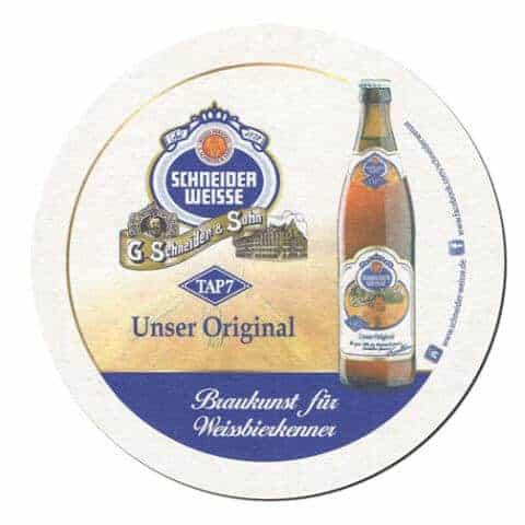 Schneider Weisse Beer Mat Front