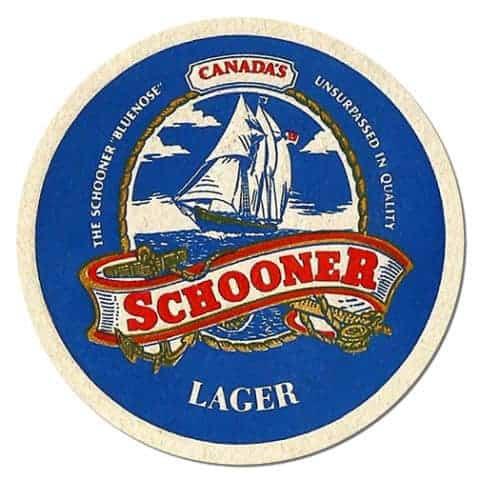 Schooner Bluenose Lager Beer Mat